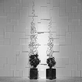 现代抽象铁艺雕塑3d模型