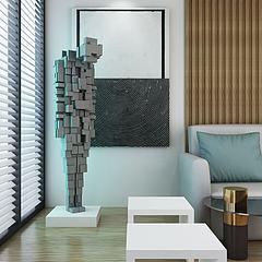 现代抽象人物雕塑模型3d模型