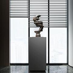 现代雕塑抽象摆件模型3d模型