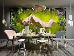 多肉植物墙模型3d模型