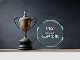 玻璃奖杯奖牌模型