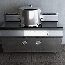 不锈钢蒸炉模型