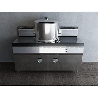 不锈钢蒸炉3d模型