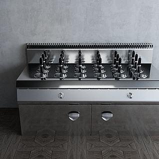 涮烫柜工业厨房厨具3d模型