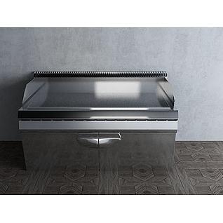 工业厨房炒炉3d模型