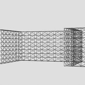 演唱会灯光网架3d模型