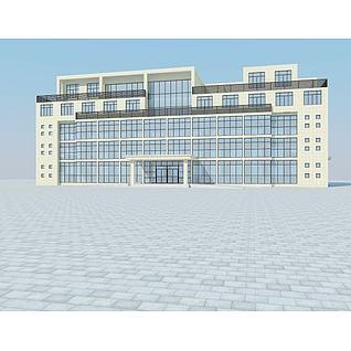 厂房办公楼3d模型