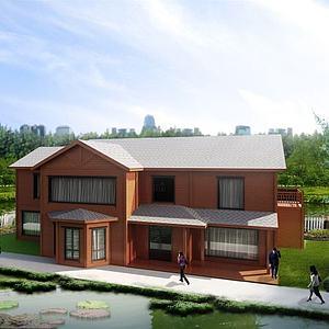 二層木屋模型3d模型
