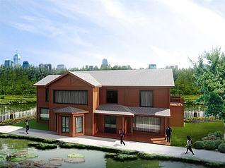二层木屋3d模型