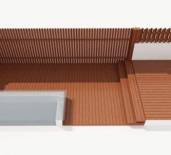 木围栏地板