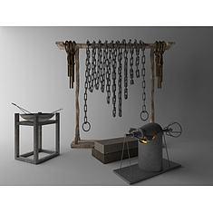 囚牢3D模型3d模型