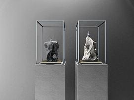 新中式摆件石头雕塑3d模型