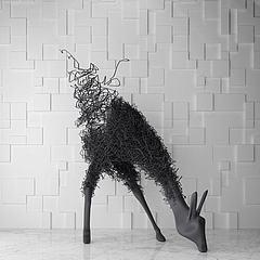 铁艺鹿雕塑模型3d模型
