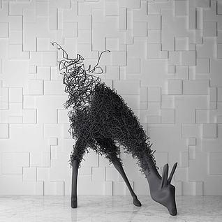 铁艺鹿雕塑3d模型3d模型