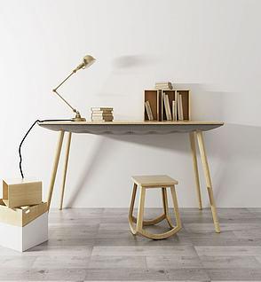 北欧书桌台灯模型3d模型