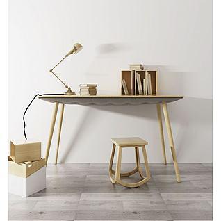 北欧书桌台灯3d模型
