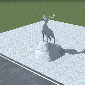 雄鹿雕塑模型