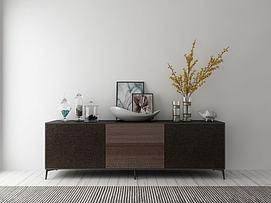 现代装饰柜组合3d模型