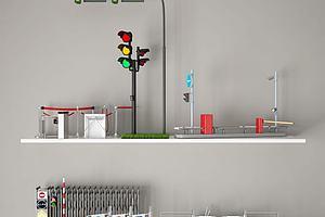 交通设施模型模型