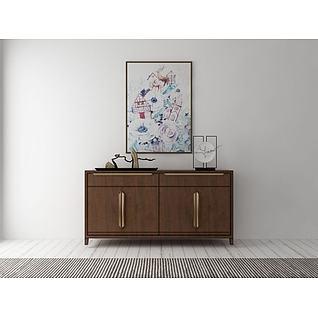 现代装饰柜组合3d模型3d模型
