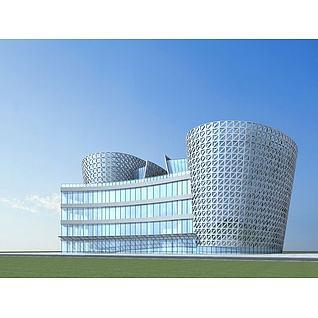 文化中心3d模型3d模型