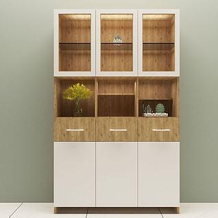 书柜3d模型3d模型