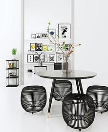 北欧现代创意餐桌椅3d模型