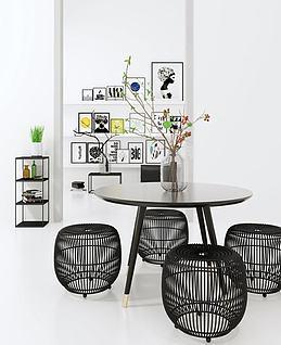 北欧现代创意餐桌椅模型3d模型