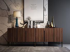 现代风格装饰柜组合3d模型