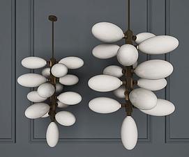 后现代吊灯金属吊灯3D模型