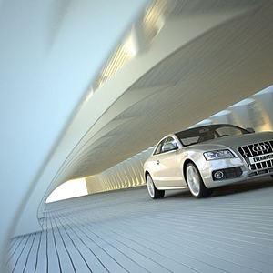 汽車場景模型3d模型