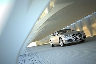 汽车场景3d模型3d模型