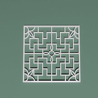 方形画格3d模型