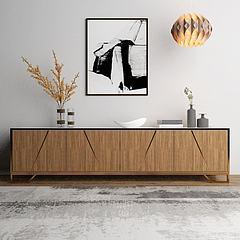 现代电视柜吊灯摆件模型3d模型