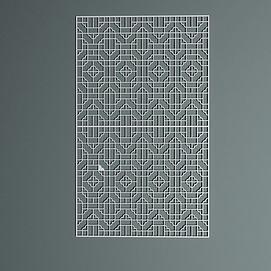 中式屏风隔断模型