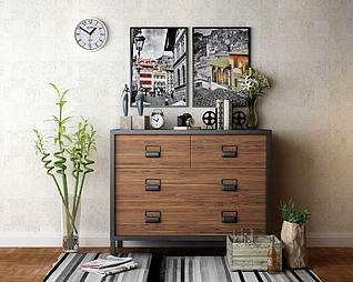 现代装饰柜模型3d模型