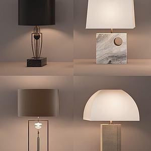 新中式台灯模型