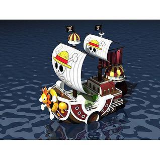海贼王之万里阳光号3d模型