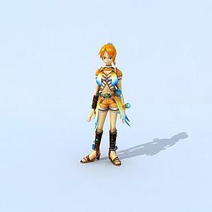 海贼王之娜美模型3d模型