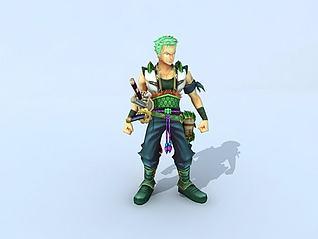 海贼王之索隆模型3d模型