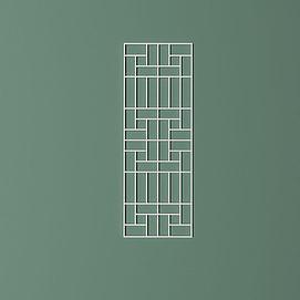 矩形拼接屏风隔断模型