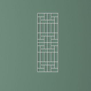 矩形拼接屏风隔断3d模型