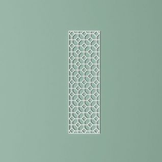 多边形镂空窗格模型3d模型