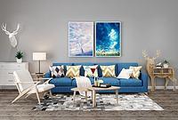 北欧风格布艺沙发3d模型