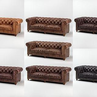 简欧沙发3d模型