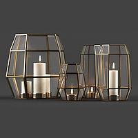 现代蜡烛灯饰品3d模型