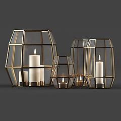 现代蜡烛灯饰品模型3d模型