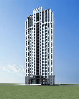 高层住宅模型3d模型
