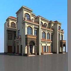 联排别墅模型3d模型