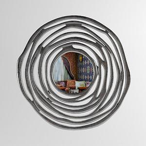 現代風格陳設飾品,鏡子模型3d模型